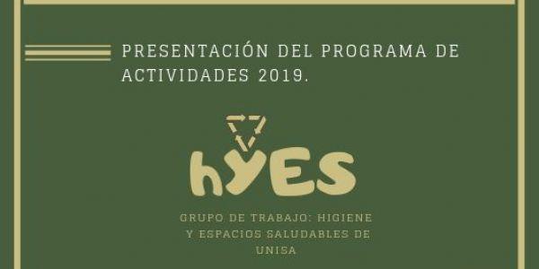 Presentación grupo de trabajo hYES de UNISA